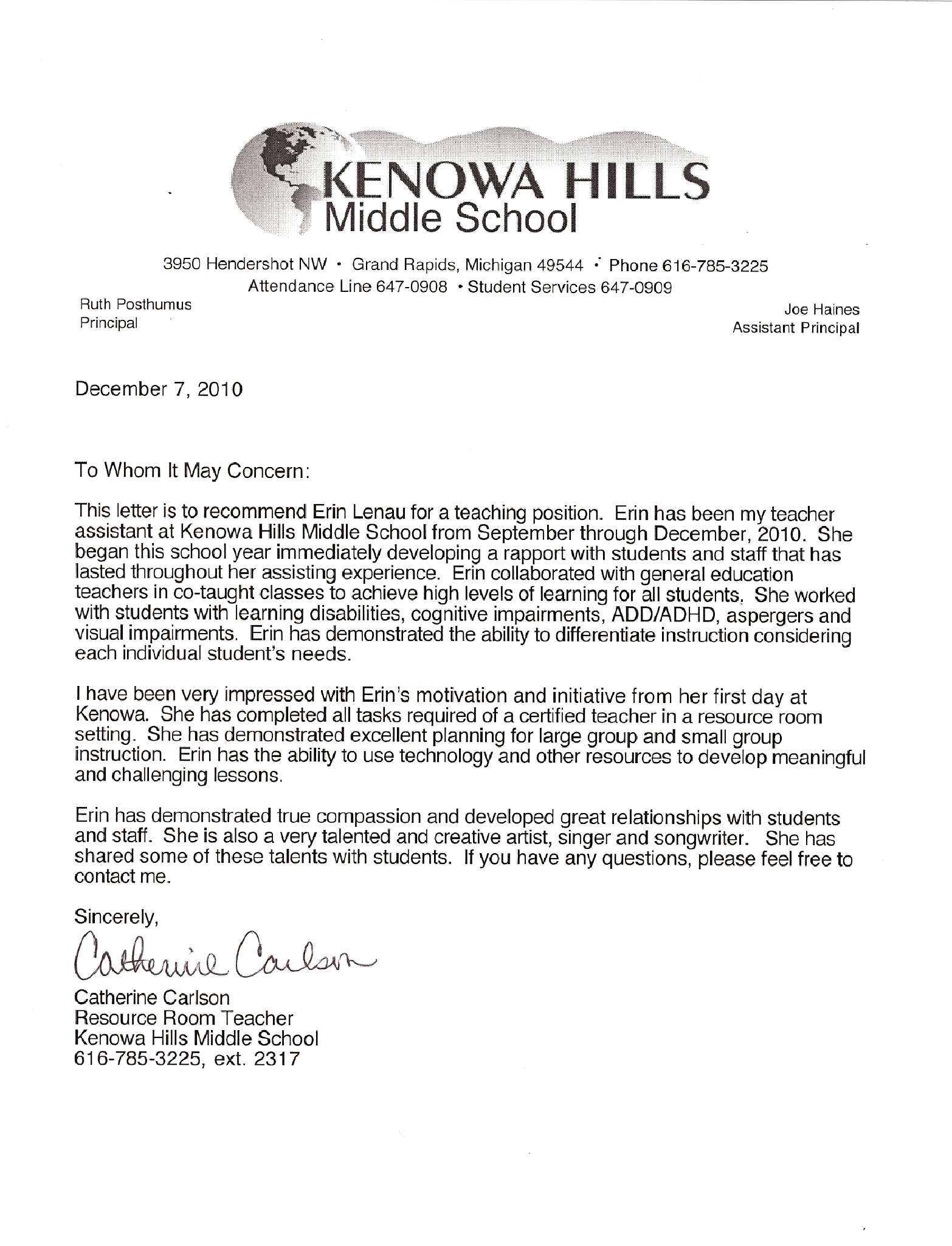 letter of recommendation for special education teacher special education teacher megan curtis teaching portfolio letter